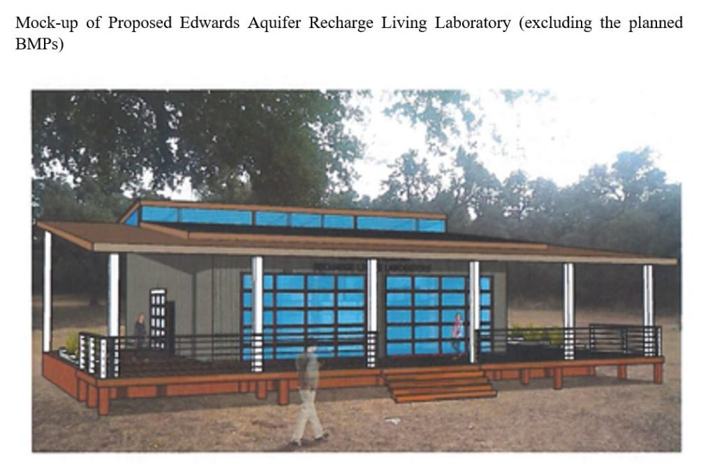 Mock-up of Proposed Edwards Aquifer Recharge Living Laboratory